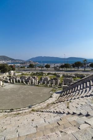 amphitheater: Bodrum Antique Theather, Turkey Stock Photo