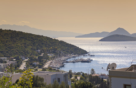 holiday destination: Bodrum, Turkey - Beautiful view from the popular holiday destination in spring time Stock Photo