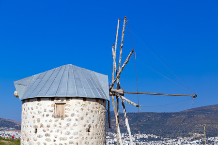 architectural survey: Bodrum, Turkey - Beautiful view from the popular holiday destination in spring time Stock Photo