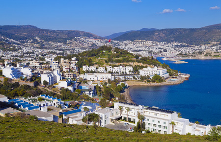 Bodrum, Turkey - Beautiful view from the popular holiday destination in spring time Stock Photo