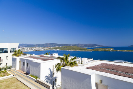 Gumbet, Bodrum, Turkey - Beautiful view from the popular holiday destination in spring time Stock Photo