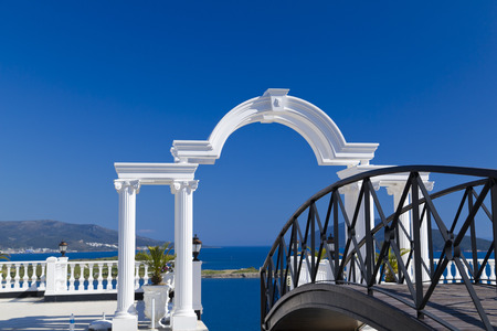east coast: Gumbet, Bodrum, Turkey - Beautiful view from the popular holiday destination in spring time Stock Photo