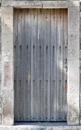 door leaf: Antique wooden door