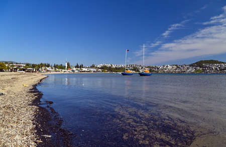Bitez, Bodrum, Turkey - Beautiful view from the popular holiday destination in spring time