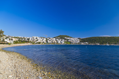 turkey beach: Bodrum, Turkey - Beautiful view from the popular holiday destination in spring time Stock Photo