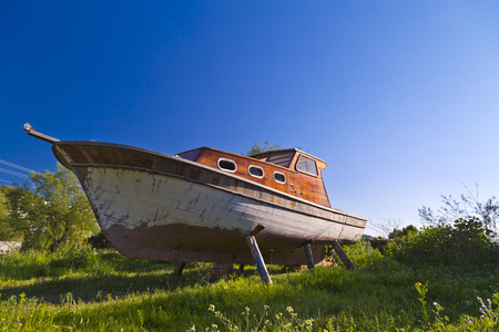 Abandoned fishing boat photo