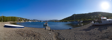 night viev: Bodrum, Turkey - Beautiful view from the popular holiday destination in spring time Editorial