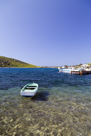 night viev: Gumbet, Bodrum, Turkey - Beautiful view from the popular holiday destination in spring time Stock Photo