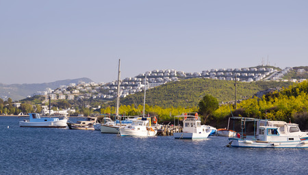 night viev: Bodrum, Turkey - Beautiful view from the popular holiday destination in spring time Stock Photo