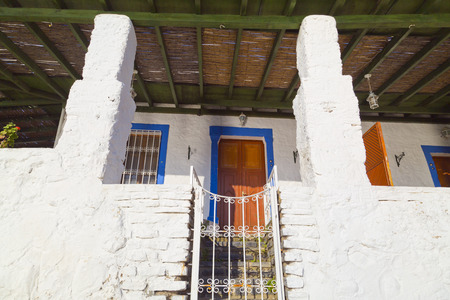Typical Bodrum architecture, Bodrum, Turkey photo