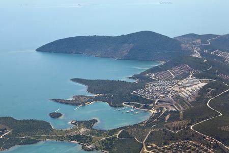 aegean sea: View of Turkish Aegean coast from the plane