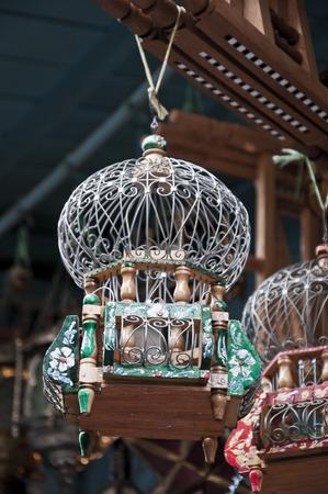 souk: Tunisian bird cage souvenirs