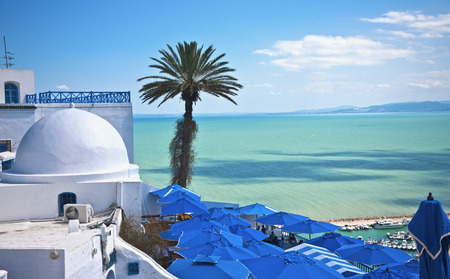 islamic scenery: Sidi Bou Said, Tunisia