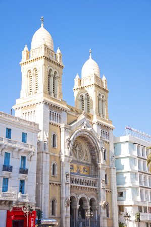 Old cathedral in Habib Bourgiba Street, Tunis, Tunisia