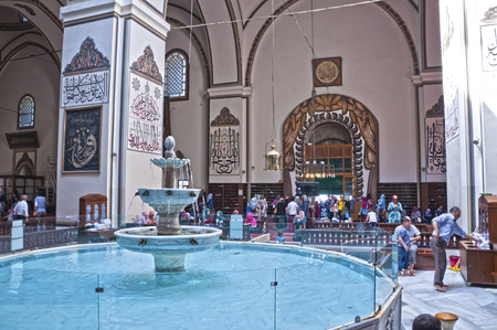 Interior of the Great Mosque, or Ulucami in Bursa, Turkey
