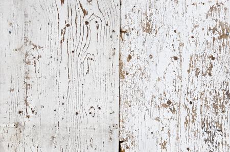 Peint en blanc et pelées texture de bois obsolète