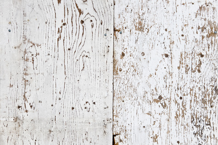 White painted and peeled obsolete wooden texture