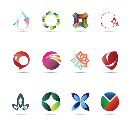ecologic: Collection of twelve creative and abstract icon designs