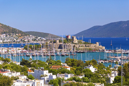 Bodrum, Turkey - Beautiful view from the popular holiday destination in summer