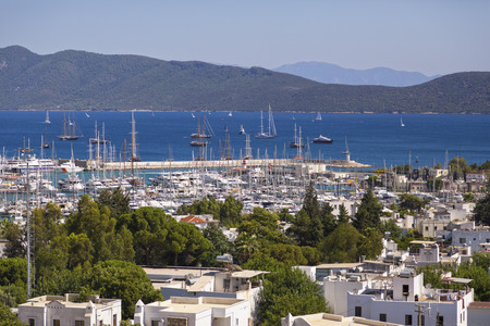 amphitheater: Bodrum, Turkey - Beautiful view from the popular holiday destination in summer