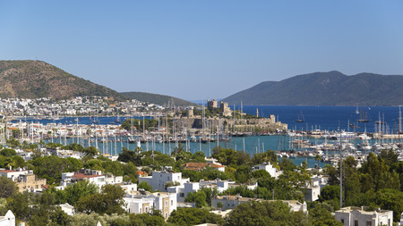 Bodrum, Turkey - Beautiful view from the popular holiday destination in summer photo