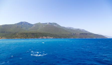 Sea view of Aegean coastline of Turkey, Datca Peninsula