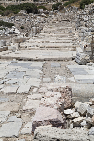 dorian: Knidos is an ancient settlement south-western Turkey  An ancient Greek city of Caria, part of the Dorian Hexapolis situated on the Datca peninsula
