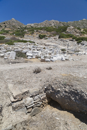 dorian: Knidos is an ancient settlement south-western Turkey  An ancient Greek city of Caria, part of the Dorian Hexapolis situated on the Datca peninsulak Stock Photo