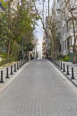 Street in Moda district, Istanbul - Turkey photo