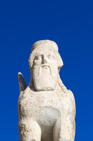 Sphinx sculpture in Bodrum Castle, Turkey