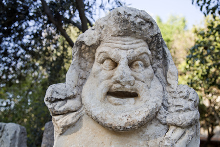 Detail from ancient remains in Bodrum Castle, Turkey