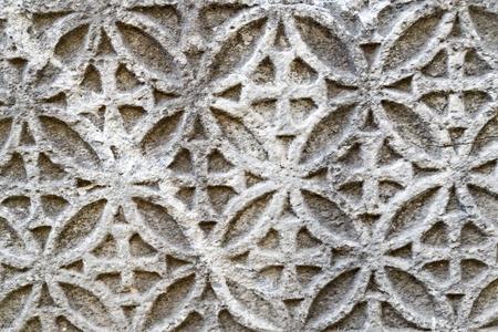 deteriorate: Ancient carving