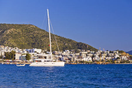 Bodrum, Turkey - Beautiful view from the popular holiday destination Stock Photo
