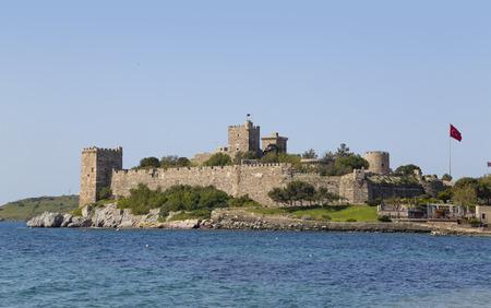 mugla: Bodrum, Turkey - Beautiful view from the popular holiday destination Stock Photo