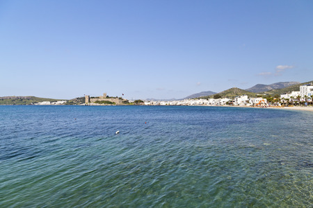 azure coast: Bodrum, Turkey - Beautiful view from the popular holiday destination Stock Photo