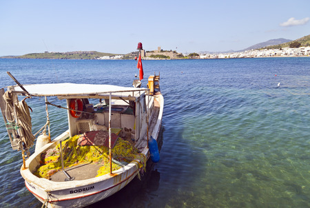 Bodrum, Turkey - Beautiful view from the popular holiday destinaBodrum, Turkey - Beautiful view from the popular holiday destinationtion in spring time photo