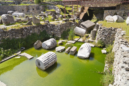 mausoleum: Remains of the Mausoleum of Halicarnassus, one of the seven wonders of the ancient world - Bodrum, Turkey