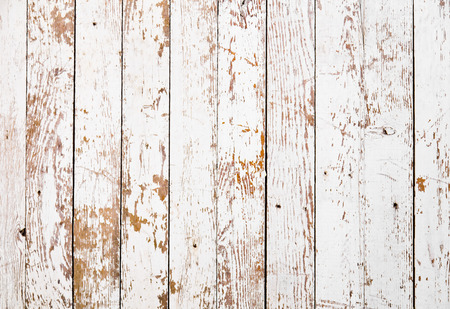 vintage timber: White grunge wooden texture Stock Photo