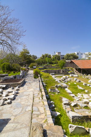 Remains of the Mausoleum of Halicarnassus, one of the seven wonders of the ancient world - Bodrum, Turkey photo