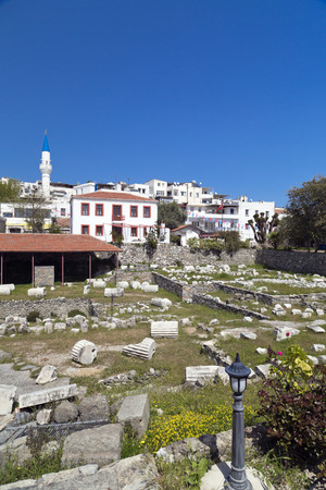 granit: Remains of the Mausoleum of Halicarnassus, one of the seven wonders of the ancient world - Bodrum, Turkey