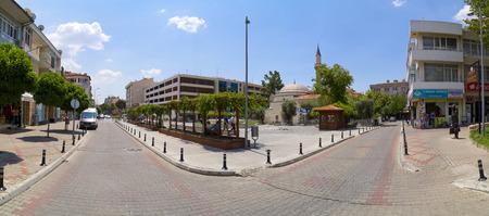 MUGLA, TURKEY - JULY 21: View from Mugla city center. The city is located in southwest of Turkey, the Aegean region, taken on July 21, 2014