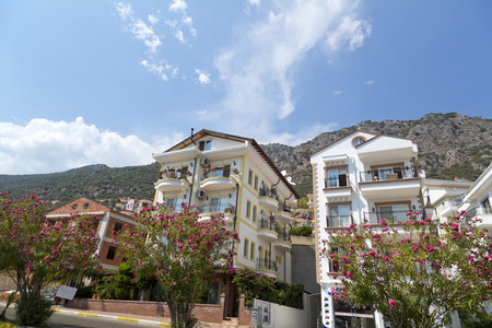 water scape: Kas town, popular holiday destination near Antalya, Turkey Editorial