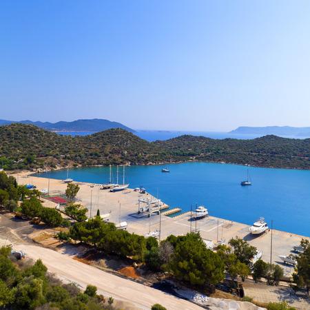 Kas town, popular holiday destination near Antalya, Turkey Stock Photo