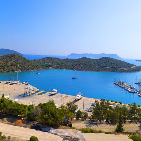 Kas town, popular holiday destination near Antalya, Turkey photo