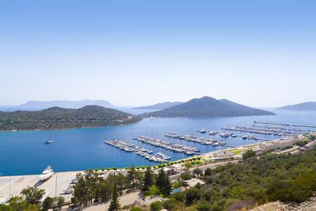 holiday destination: Kas town, popular holiday destination near Antalya, Turkey Stock Photo