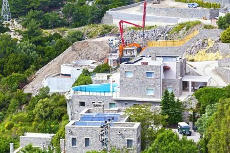 bougainvillea: Villa construction in Yalikavak, Bodrum