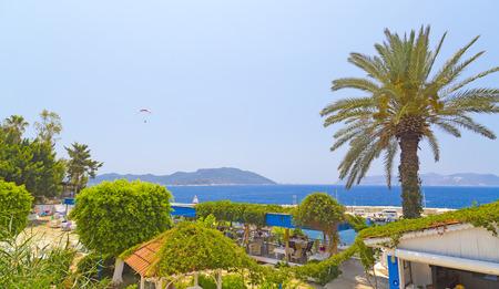 turkey beach: Kas town, popular holiday destination near Antalya, Turkey Stock Photo