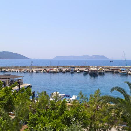 holiday destination: Kas town, popular holiday destination near Antalya, Turkey Editorial