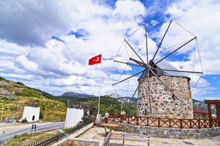 winter theater: Bodrum, Turkey - Beautiful view from the popular holiday destination in spring time Stock Photo