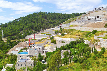 east coast: Villa construction in Yalikavak, Bodrum